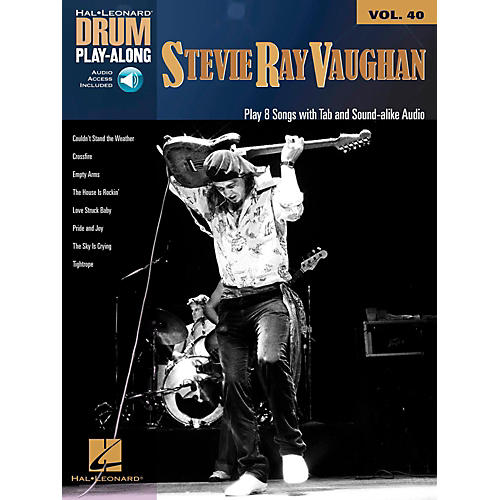 Hal Leonard Stevie Ray Vaughan - Drum Play-Along Volume 40 Book/Audio Online