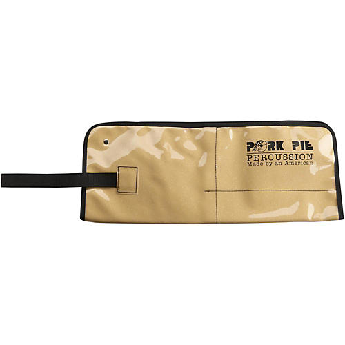 Pork Pie Stick Bag w/Gold Sparkle Lining Leopard