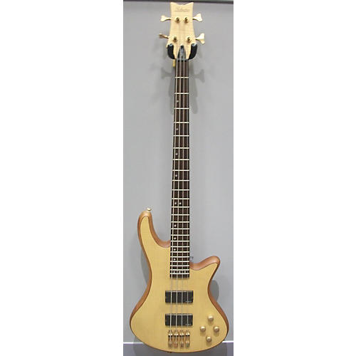 used schecter guitar research stiletto custom 4 string electric bass guitar natural guitar center. Black Bedroom Furniture Sets. Home Design Ideas