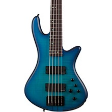 Stiletto Studio-5 5-String Electric Bass Ocean Blue Burst