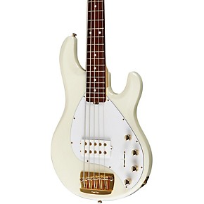 ernie ball music man stingray 5 h 5 string electric bass guitar india ivory rosewood w matching. Black Bedroom Furniture Sets. Home Design Ideas