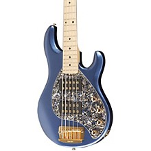 StingRay 5 HH 5-String Electric Bass Guitar Pace Car Blue Maple Neck