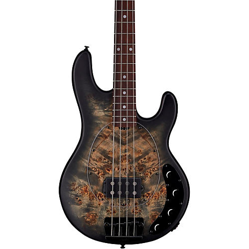 Sterling by Music Man StingRay Ray34 Burl Top Rosewood Fingerboard Electric Bass