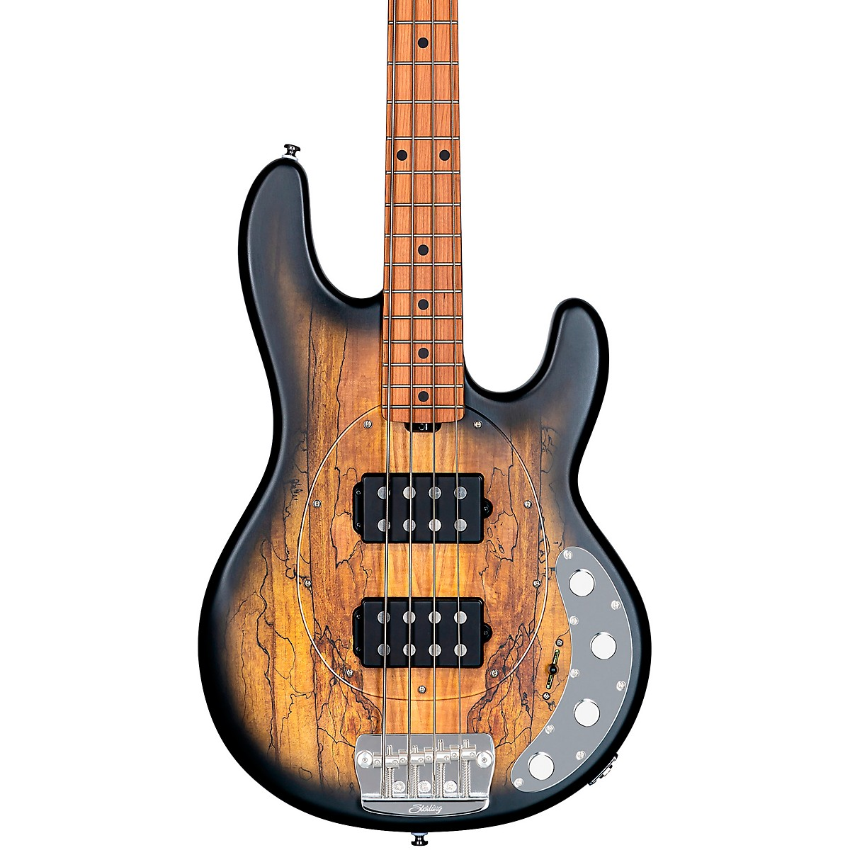Sterling by Music Man StingRay Ray34HH Spalted Maple Top Maple Fingerboard Electric Bass