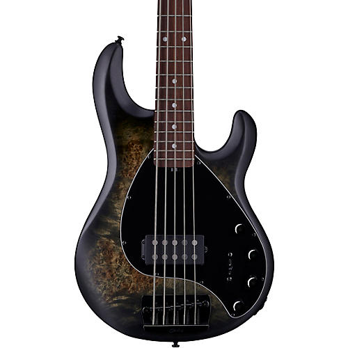 Sterling by Music Man StingRay Ray35 Burl Top Rosewood Fingerboard 5-String Electric Bass