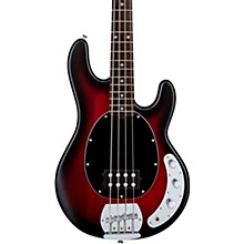 StingRay Ray4 Electric Bass Ruby Red Burst Black Pickguard