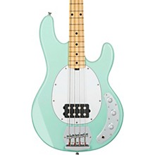 StingRay Ray4 Maple Fingerboard Electric Bass Mint Green White Pickguard