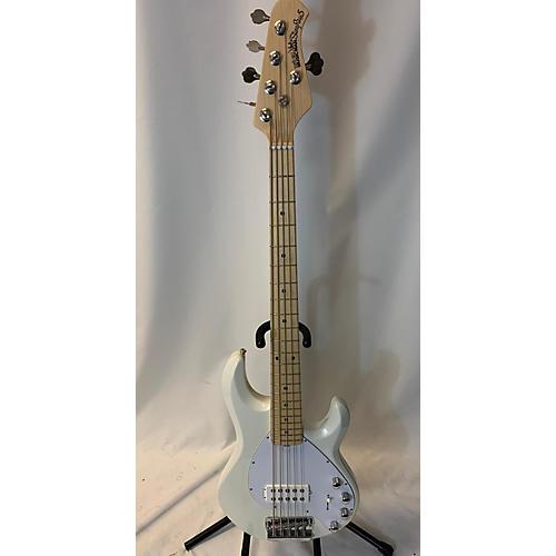 used ernie ball music man stingray 5 string electric bass guitar white guitar center. Black Bedroom Furniture Sets. Home Design Ideas