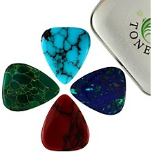 Timber Tones Stone Tones Mixed Tin of Four Guitar Picks