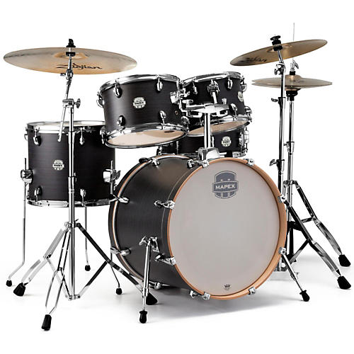mapex storm fusion 5 piece drum set ebony blue grain guitar center. Black Bedroom Furniture Sets. Home Design Ideas