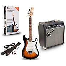 Strat Pack SSS Electric Guitar with Fender Frontman 10G Combo Amplifier Level 2 Brown Sunburst 190839571632