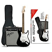 Stratocaster Electric Guitar Pack With Squier Frontman 10G Amp Black