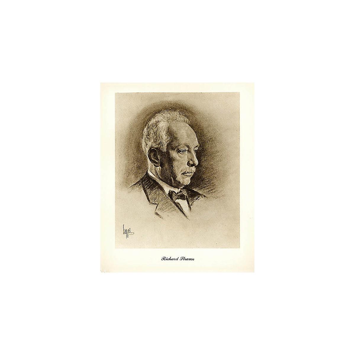 Music Sales Strauss (Lupas Large Portrait Poster) Music Sales America Series
