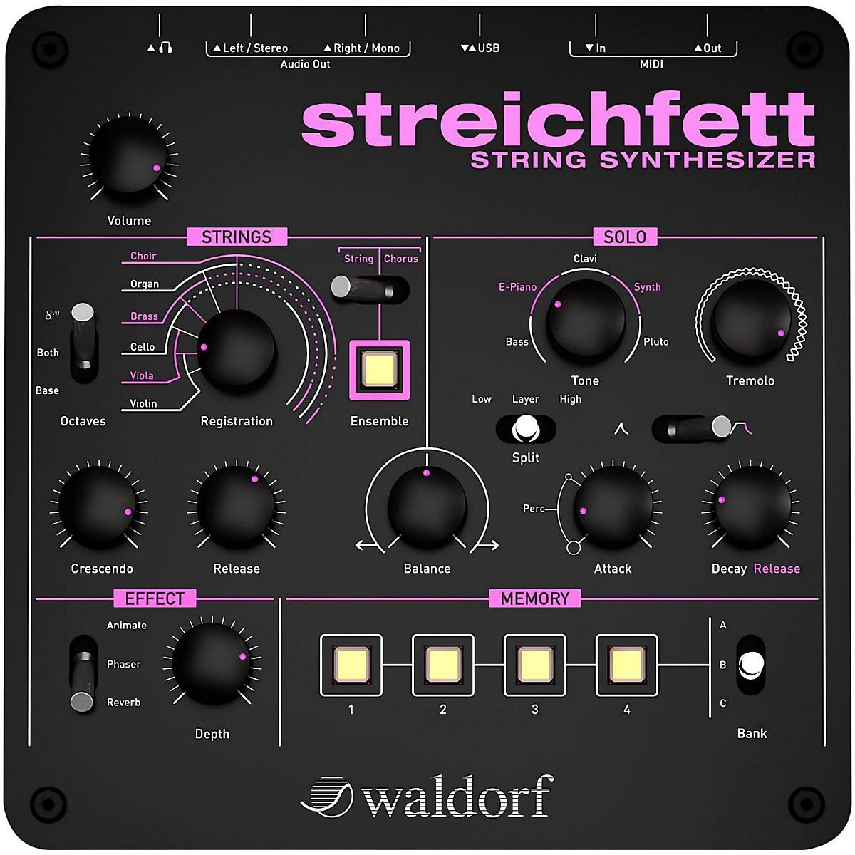 Waldorf Streichfett Desktop Synthesizer