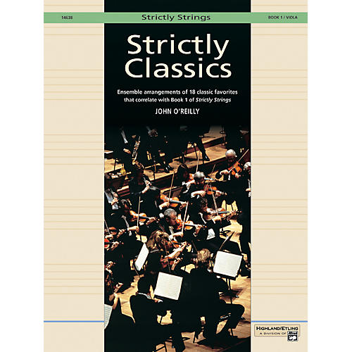Alfred Strictly Classics Book 1 Viola