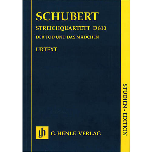 G. Henle Verlag String Quartet D minor D 810 The Death and the Maiden Henle Study Scores Softcover by Franz Schubert