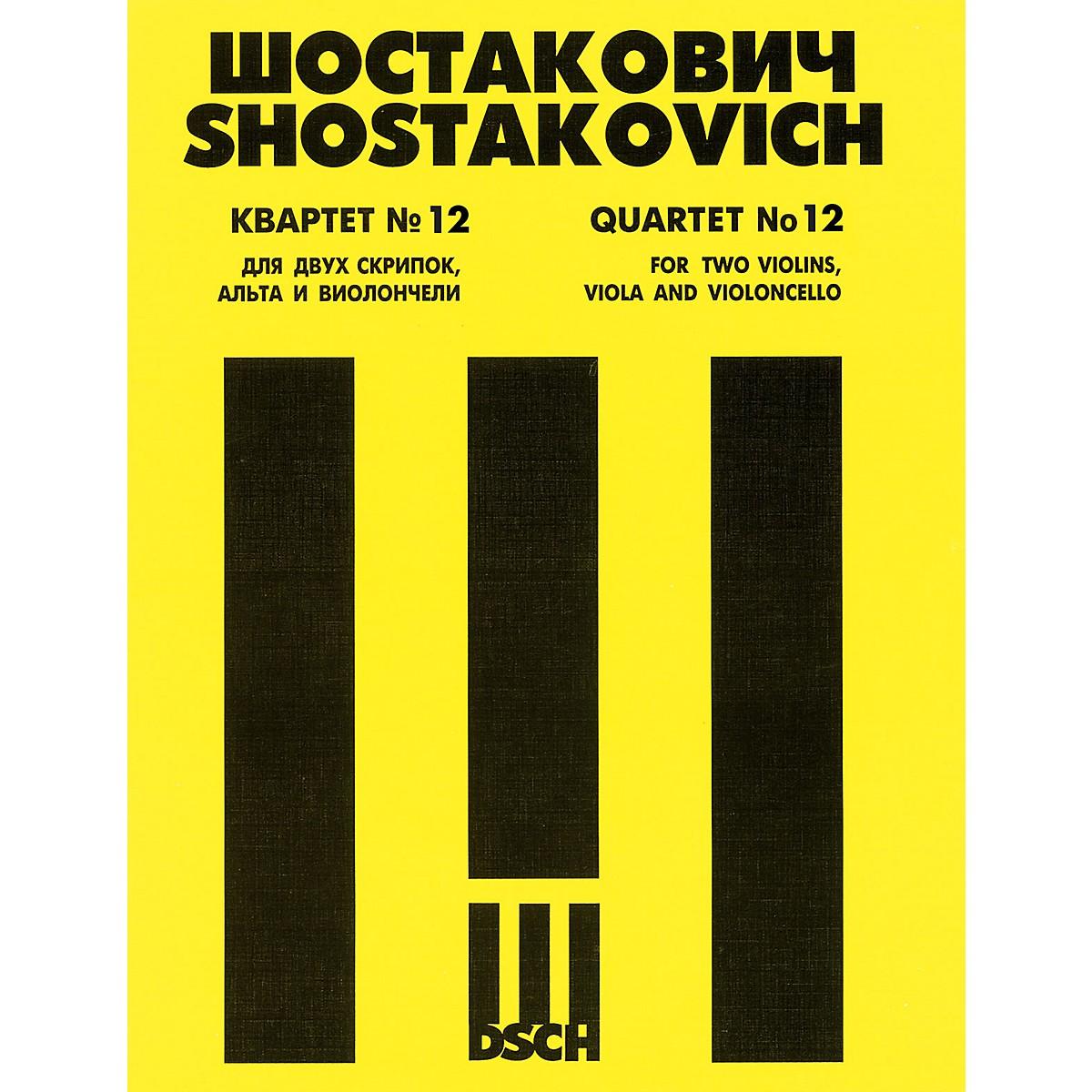 DSCH String Quartet No. 12, Op. 133 (Score) DSCH Series Composed by Dmitri Shostakovich