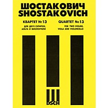 DSCH String Quartet No. 13, Op. 138 (Parts) DSCH Series Composed by Dmitri Shostakovich