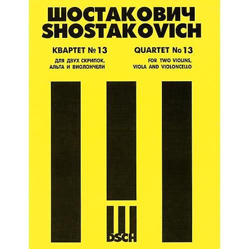 DSCH String Quartet No. 13, Op. 138 (Parts) DSCH Series Composed by Dmitri Shostakovich