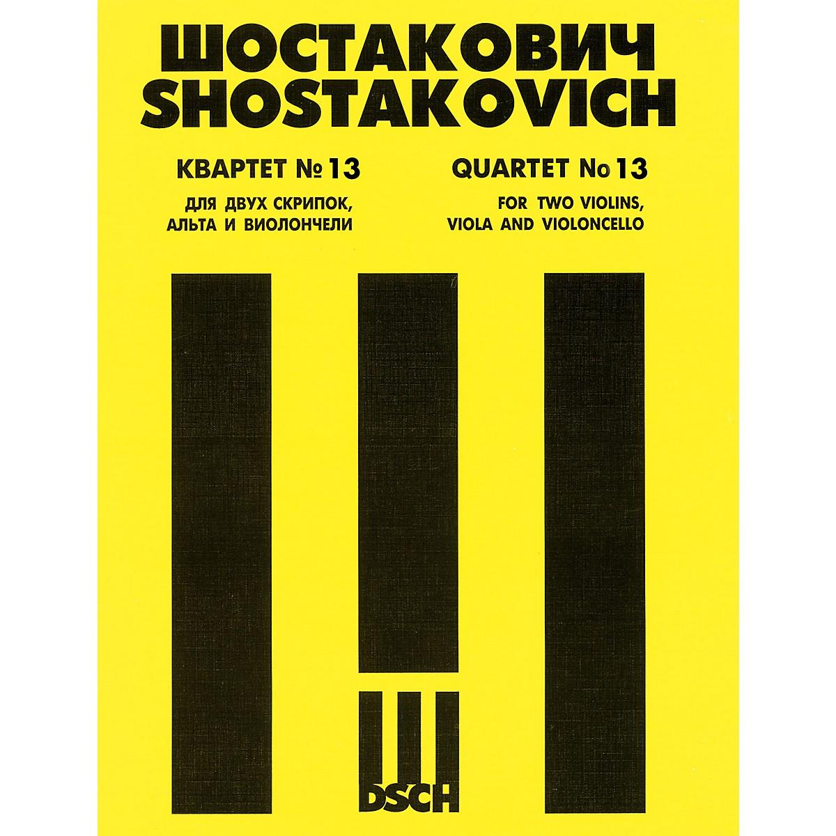 DSCH String Quartet No. 13, Op. 138 (Score) DSCH Series Composed by Dmitri Shostakovich
