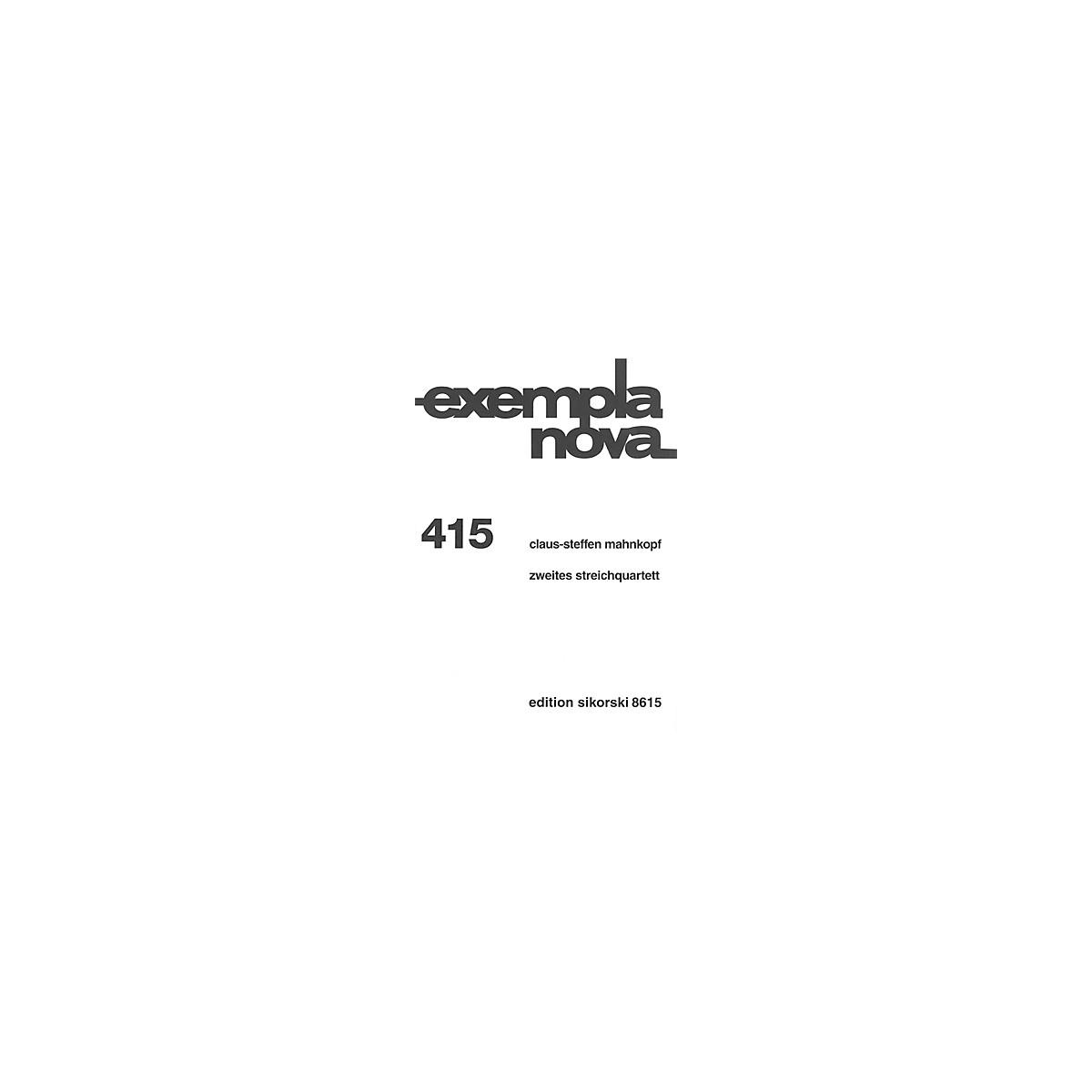 Sikorski String Quartet No. 2 (Zweites streichquartett) String Ensemble Series Softcover by Claus-Steffen Mahnkopf
