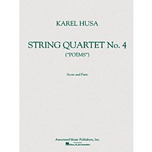 Associated String Quartet No. 4 (Poems) Score and Parts String Ensemble Series Composed by Karel Husa