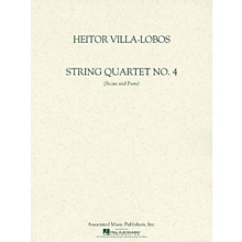 Associated String Quartet No. 4 (Score and Parts) String Ensemble Series Composed by Heitor Villa-Lobos