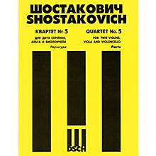 DSCH String Quartet No. 5, Op. 92 (Parts) DSCH Series Composed by Dmitri Shostakovich
