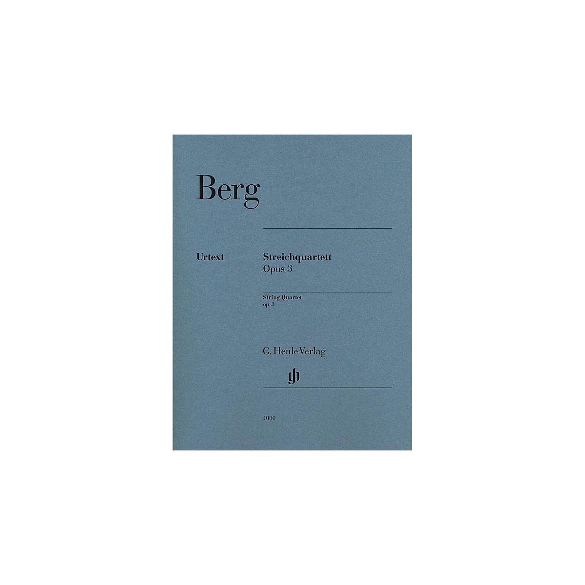 G. Henle Verlag String Quartet Op. 3 (Parts) Henle Music Folios Series Composed by Alban Berg