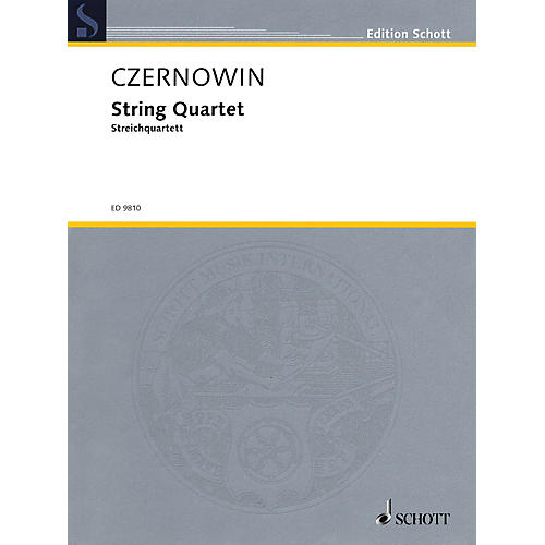 Schott String Quartet (Score and Parts) Schott Series Composed by Chaya Czernowin