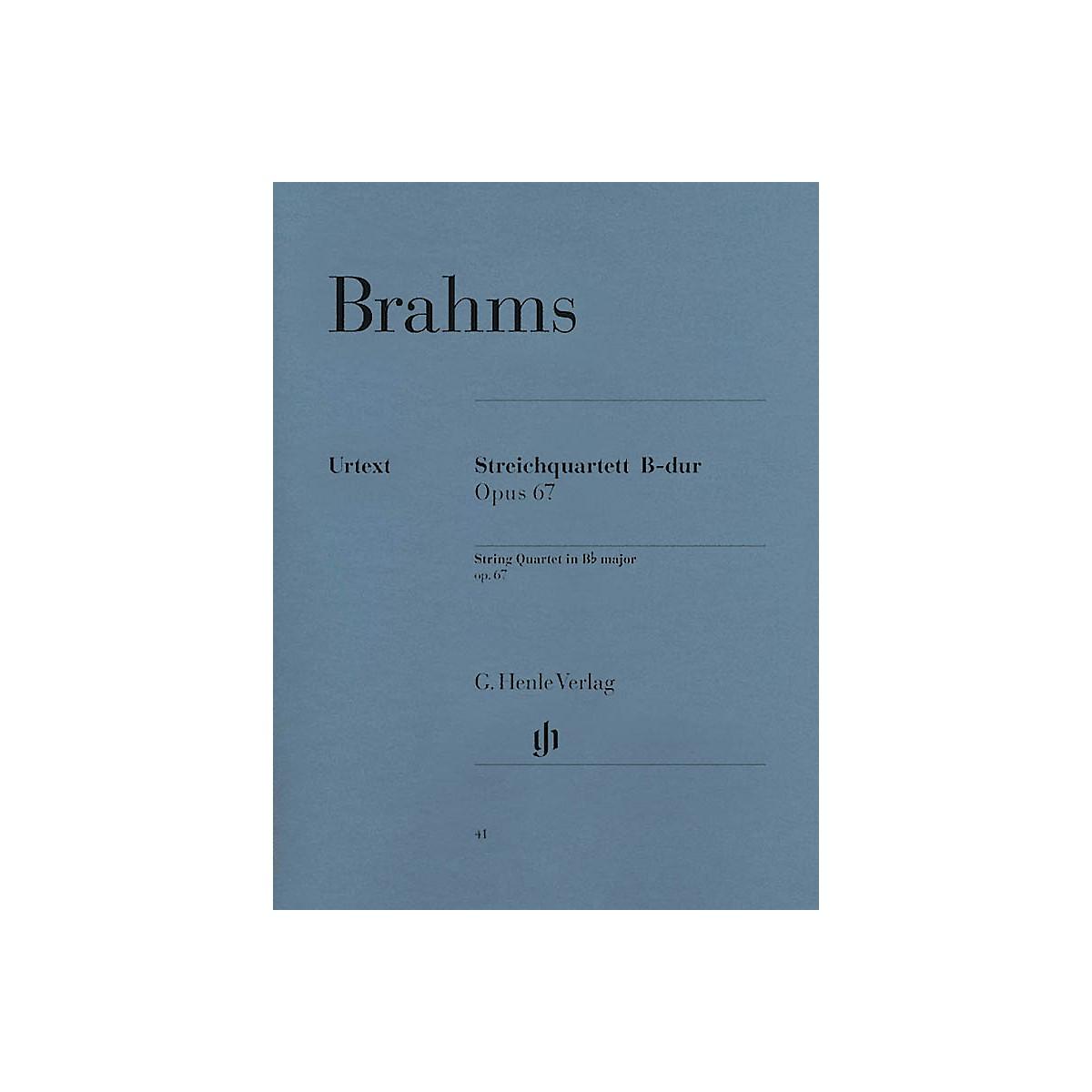 G. Henle Verlag String Quartet in B-flat Major, Op. 67 Henle Music Folios Series Softcover Composed by Johannes Brahms