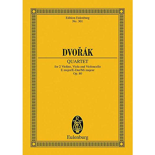 Eulenburg String Quartet in E Major, Op. 80 Schott Series Composed by Antonín Dvorák
