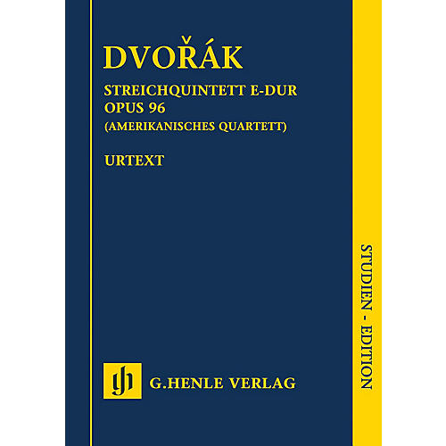 G. Henle Verlag String Quartet in F Major Op. 96 (American Quartet) Henle Study Scores Series Softcover by Antonin Dvorak