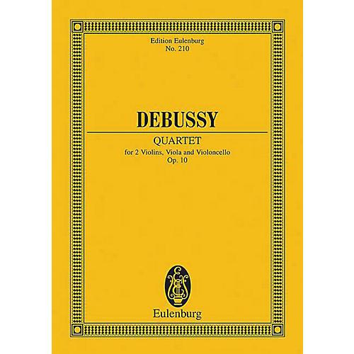 Eulenburg String Quartet in G minor, Op. 10 Schott Series Composed by Claude Debussy
