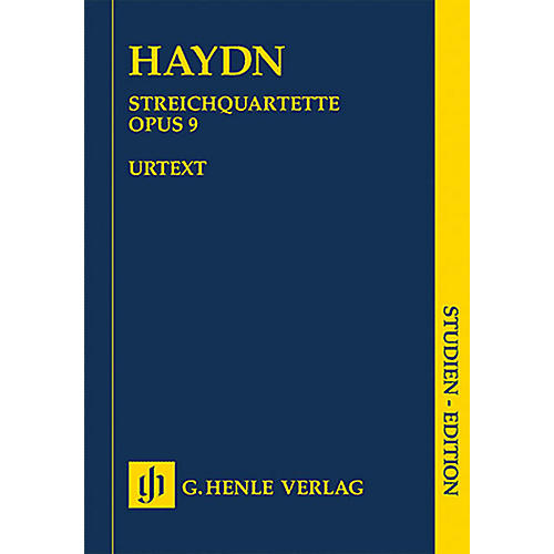 G. Henle Verlag String Quartets - Volume II, Op. 9 Henle Study Scores Series Softcover Composed by Joseph Haydn