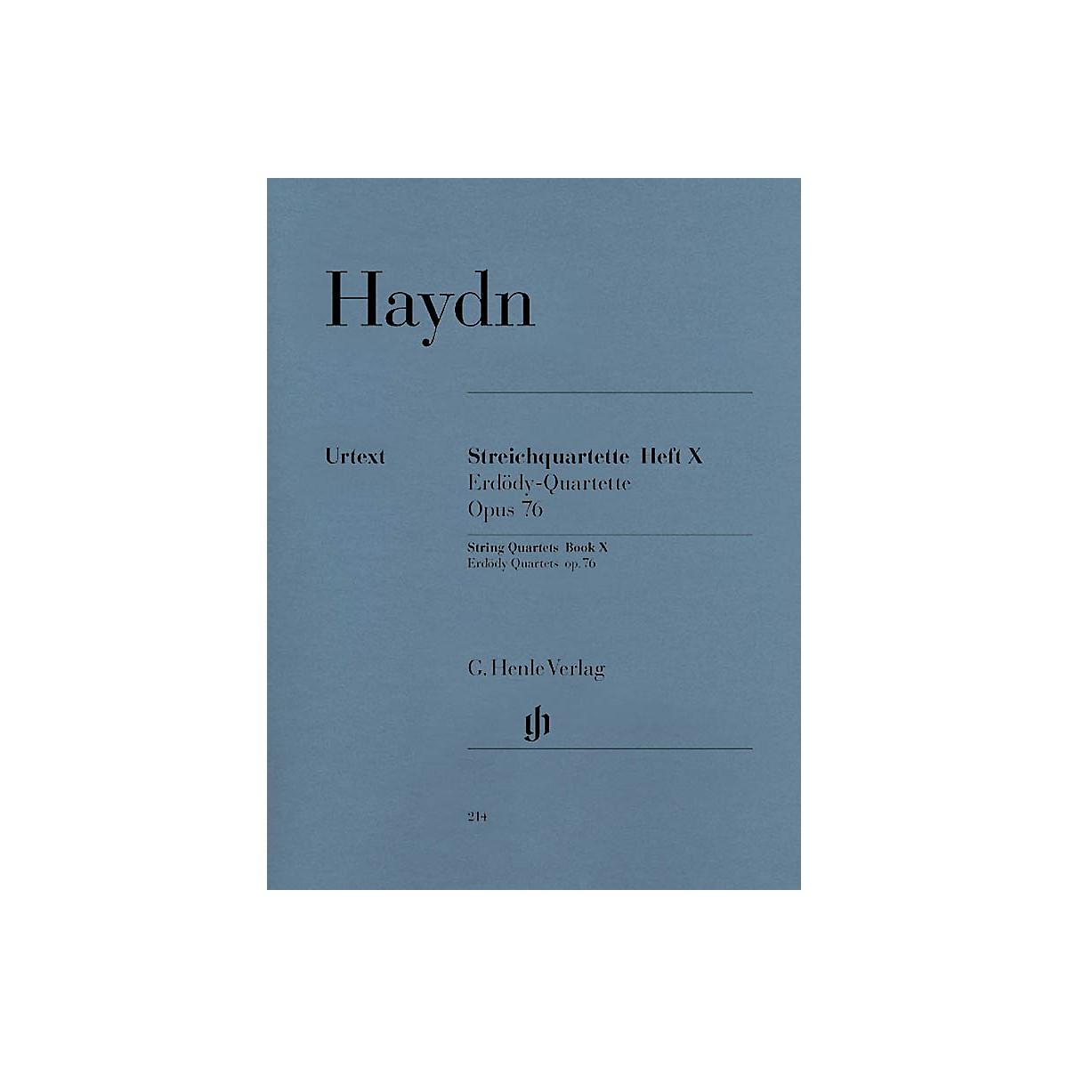 G. Henle Verlag String Quartets - Volume X Op. 76 Henle Music Folios Series Softcover Composed by Franz Josef Haydn