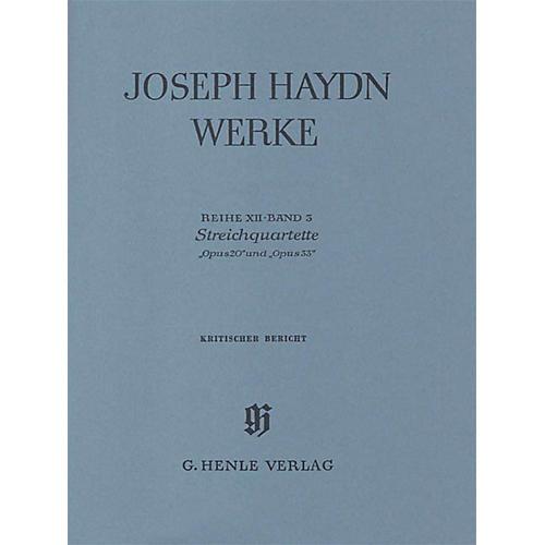 G. Henle Verlag String Quartets, Op. 20 and Op. 33 Henle Edition Series Hardcover