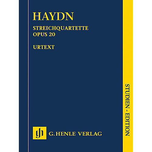 G. Henle Verlag String Quartets, Vol. IV, Op. 20 (Sun Quartets) Henle Study Scores by Haydn Edited by Sonja Gerlach