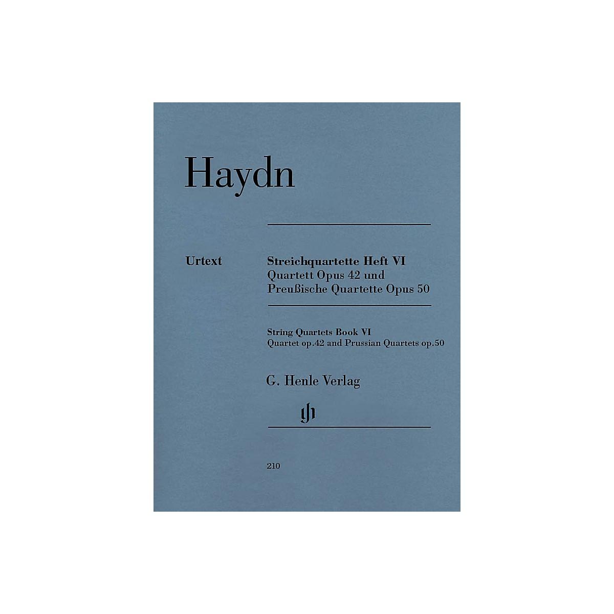 G. Henle Verlag String Quartets, Vol. VI, Op.42 and Op.50 (Prussian Quartets) Henle Music Folios by Joseph Haydn