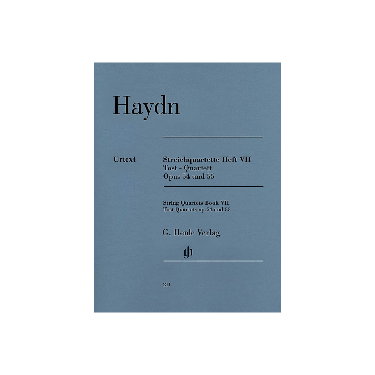 G. Henle Verlag String Quartets, Vol. VII, Op. 54 and Op. 55 (Tost Quartets) Henle Music Folios Softcover by Joseph Haydn