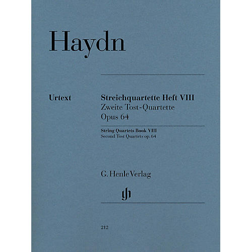 G. Henle Verlag String Quartets Volume 8, Op. 64 (Second Tost Quartets) Henle Music Folios Softcover by Joseph Haydn