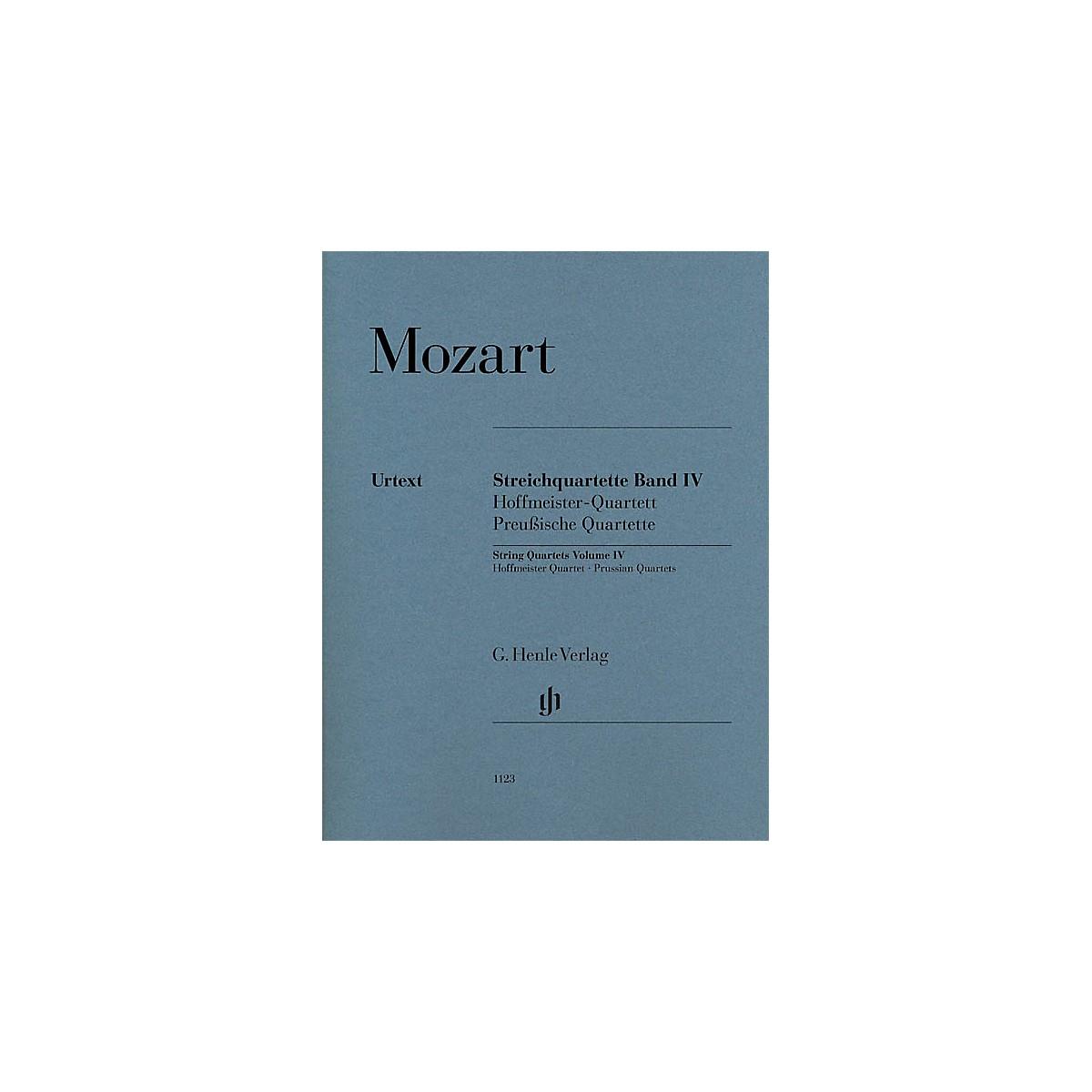 G. Henle Verlag String Quartets Volume Iv (4) Henle Music Folios Series by Wolfgang Amadeus Mozart