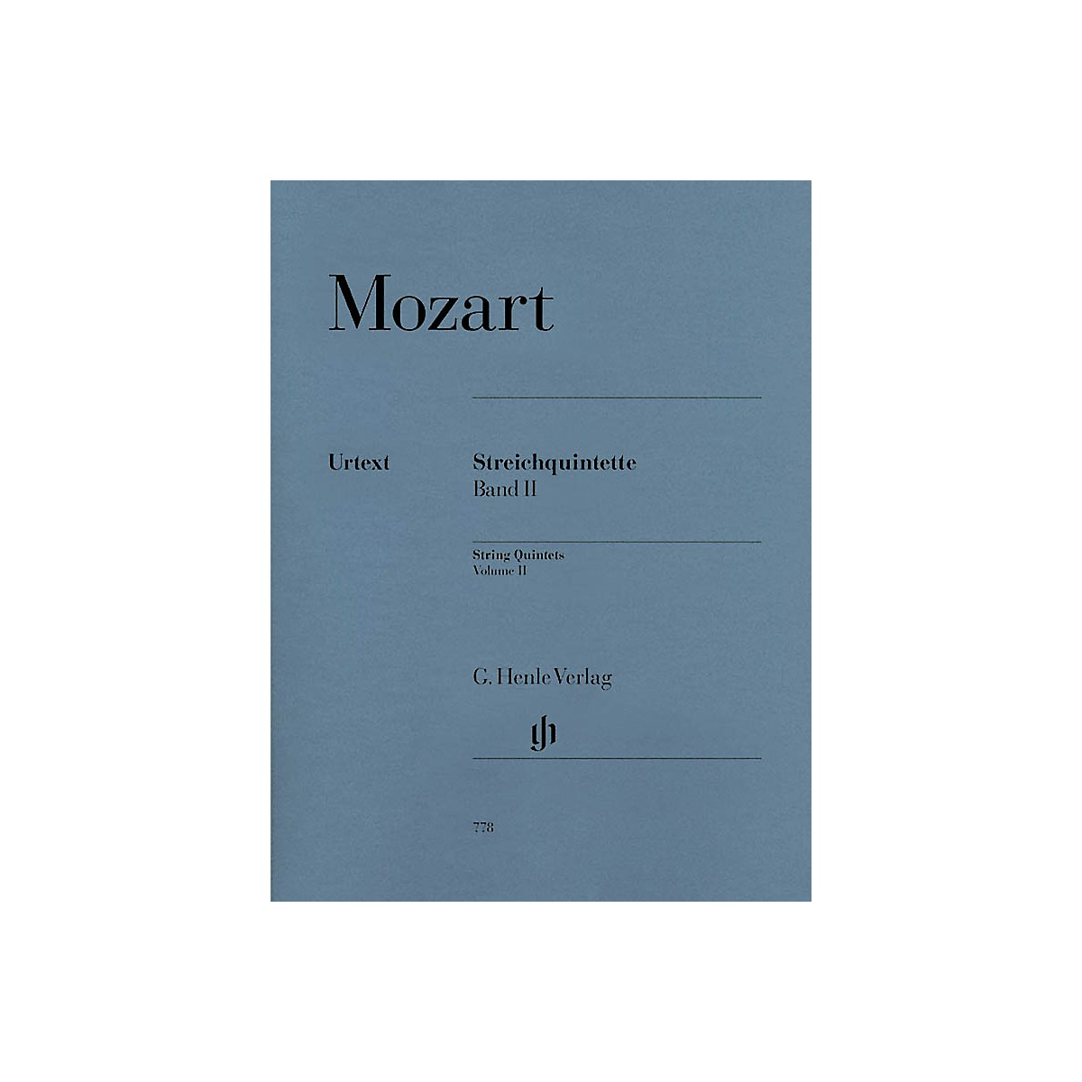 G. Henle Verlag String Quintets - Volume II (Parts) Henle Music Folios Series Softcover by Wolfgang Amadeus Mozart