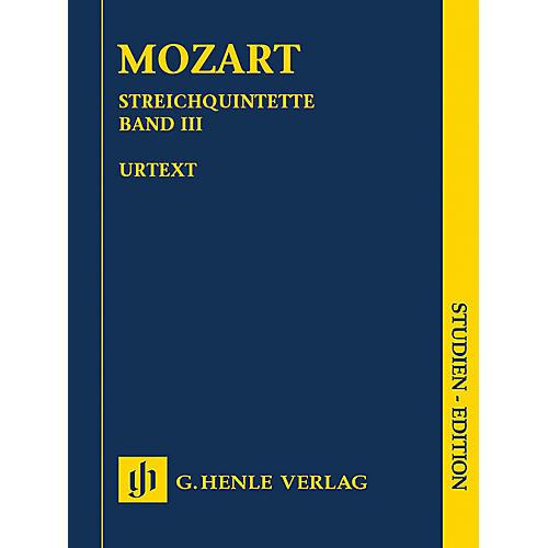 G. Henle Verlag String Quintets - Volume III Henle Study Scores by Wolfgang Amadeus Mozart Edited by Ernst Herttrich