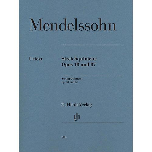 G. Henle Verlag String Quintets Op. 18 and 87 Henle Music Folios by Felix Mendelssohn Bartholdy Edited by Ernst Herttrich