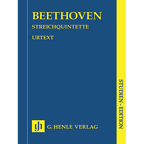 G. Henle Verlag String Quintets (Study Score) Henle Study Scores Series Softcover Composed by Ludwig van Beethoven