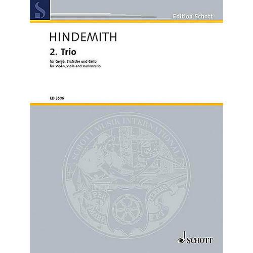 Schott Music String Trio No. 2 (1933) (Study Score) Schott Series Composed by Paul Hindemith