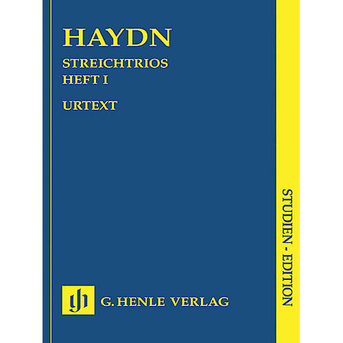 G. Henle Verlag String Trios - Volume 1 (Study Score) Henle Study Scores Series Softcover Composed by Joseph Haydn