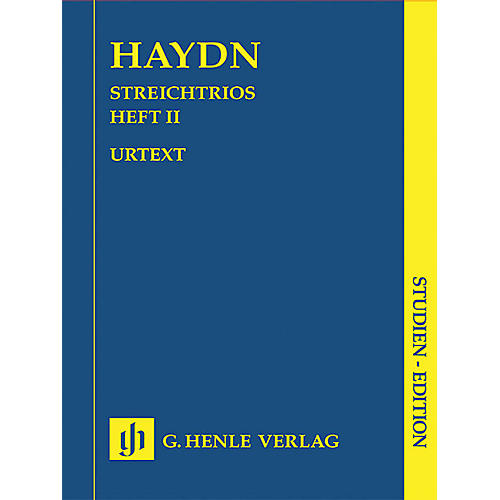 G. Henle Verlag String Trios - Volume 2 (Study Score) Henle Study Scores Series Softcover Composed by Joseph Haydn