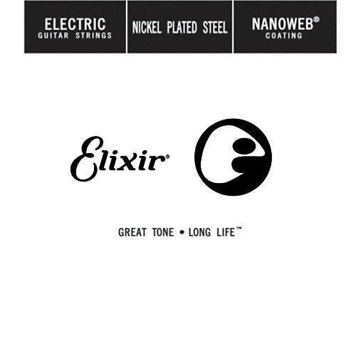 Elixir Strings Single Electric Guitar String with NANOWEB Coating (.074)